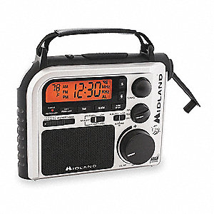 Portable Multipurpose Weather Radio,Silv