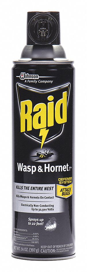 Wasp and Hornet Killer,  Aerosol,  14 oz,  Outdoor Only,  7.00% DEET Concentration