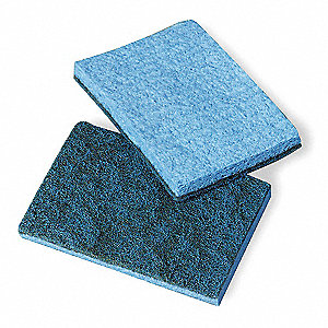 "5"" x 5"" Cellulose, Synthetic Fiber Scrubber Sponge, Blue, 40PK"