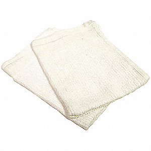 "White Terry Cloth, Size: 14"" x 17"", 12 count Bag"
