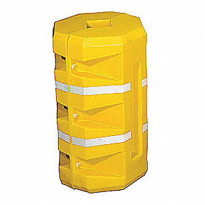 "Yellow Column Protector, Fits Column Size 9"", Fits Column Shape Round"