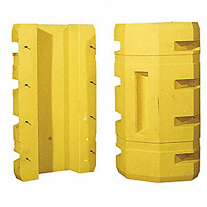 "Yellow Column Protector, Fits Column Size 12"", Fits Column Shape Square"
