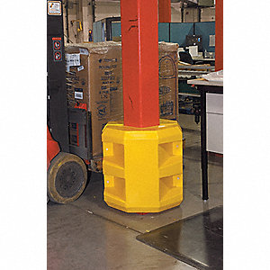 "Yellow Column Protector, Fits Column Size 14"", Fits Column Shape Square"
