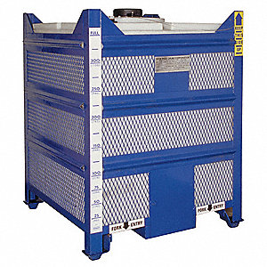 IBC Tank,45x45x68 In,450 gal.,Blue