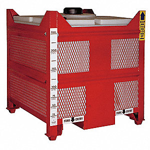 IBC Tank,45x45x68 In,450 gal.,Red