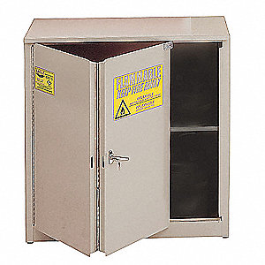 "30 gal. Flammable Cabinet, 44"" x 43"" x 18"", Self-Closing Door Type"