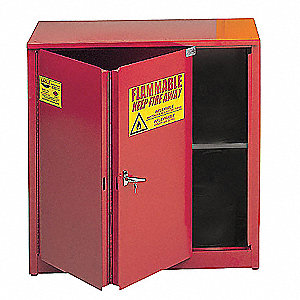 Flammable Safety Cabinet,30 Gal.,Red