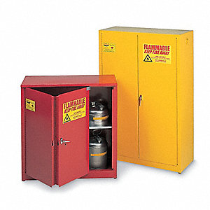 "60 gal. Flammable Cabinet, 65"" x 31-1/4"" x 31-1/4"", Self-Closing Door Type"