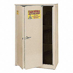 "45 gal. Flammable Cabinet, 65"" x 43"" x 18"", Self-Closing Door Type"