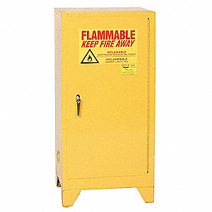 "16 gal. Flammable Cabinet, 48"" x 23"" x 18"", Self-Closing Door Type"