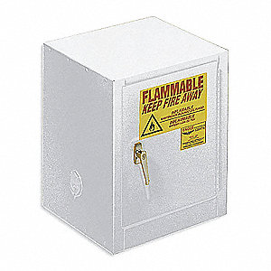 Flammable Safety Cabinet,4 Gal.,White