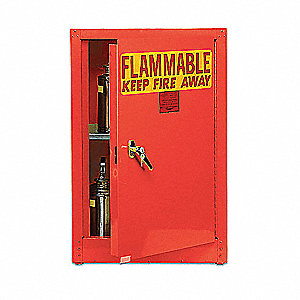 Flammable Safety Cabinet,4 Gal.,Red