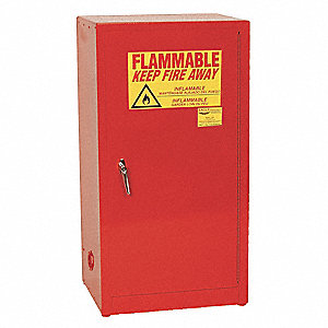 "16 gal. Flammable Cabinet, 44"" x 23"" x 18"", Self-Closing Door Type"