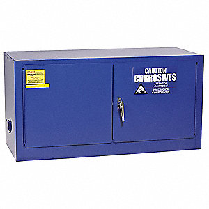 "Stackable, 15 gal. Capacity, 22-1/4"" x 43"" x 18"", Blue, Galvanized Steel"
