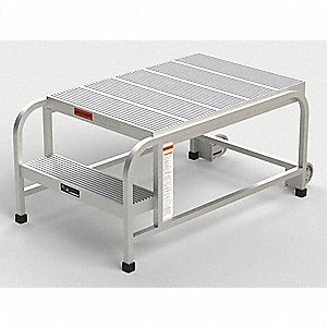 "Rolling Work Platform, Aluminum, Single Access Platform Style, 20"" Platform Height"