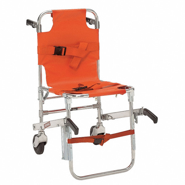 Ferno Stair Chair With 350 Lb Weight Capacity Orange