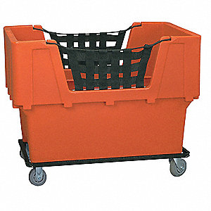 Cube Truck,LDPE,Orange,23.0 cu. ft.