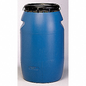 Polyethylene Drum,Blue with Black Cover