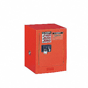 Flammable Safety Cabinet,12 Gal.,Red