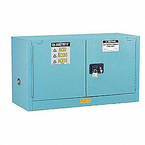 "43"" x 18"" x 24"" Galvanized Steel Corrosive Safety Cabinet, Blue"