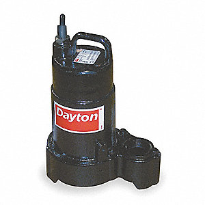 1/3 HP Submersible Sump Pump, None Switch Type, Cast Iron Base Material