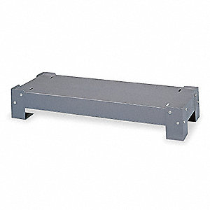 "Gray Steel Base For 17"" Drawer Cabinets, 34-1/8"" Width, 17-1/2"" Depth"