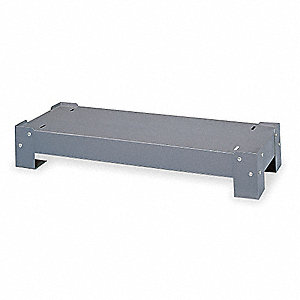"Gray Steel Base For 11-12"" Drawer Cabinets, 34-1/8"" Width, 12-1/4"" Depth"