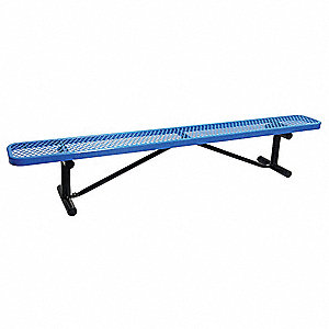 Outdoor Bench,96 in. L,16-3/8 in. H,BLU