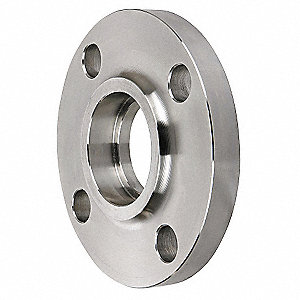 "Forged 304 Stainless Steel Socket Weld Flange, Socket Weld, 4"" Pipe Size - Pipe Fitting"