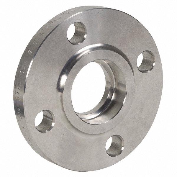 Grainger approved stainless steel socket weld flange