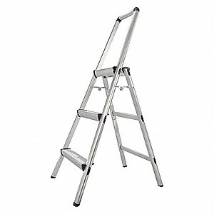 Utility Step Stool,3 Step,4 ft.,225 lb.