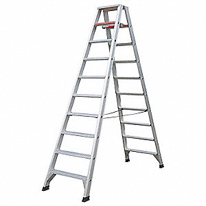10 ft. 300 lb. Load Capacity Aluminum Twin Stepladder