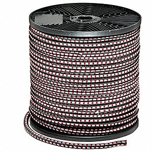 Multicolored Rubber Bungee Cord Roll with No Ends, Bungee Length: 300 ft.