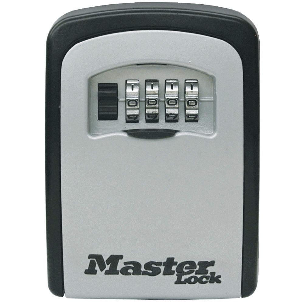 Lock Box, Combination, 5 Key Capacity, Mounting Type: Surface