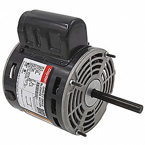 1/6 HP Direct Drive Blower Motor, Permanent Split Capacitor, 1650 Nameplate RPM, 115 Voltage