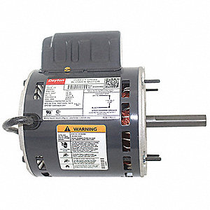 1/3 HP Direct Drive Blower Motor, Permanent Split Capacitor, 1100 Nameplate RPM, 115 Voltage