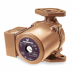 1/6 HP Silicon Bronze Wet Rotor, Maintenance Free Hot Water Circulator Pump