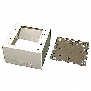 WIREMOLD Extra Deep Device Box,Ivory,Steel,Boxes - 4JA46|V5744-2 ...