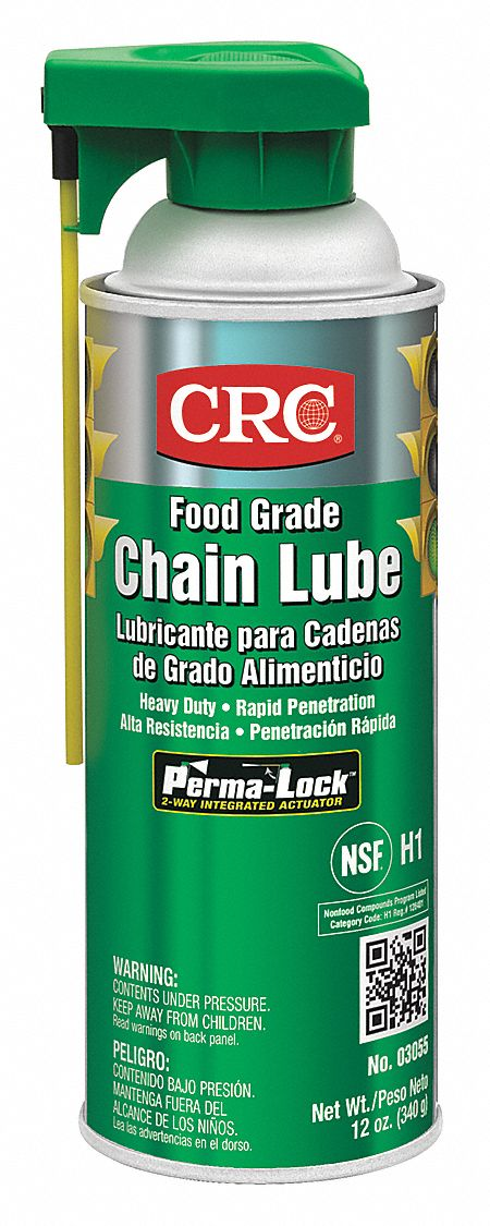 Chain and Wire Rope Lubricant,  Aerosol Can,  Mineral Oil,  No Additives,  H1 Food Grade