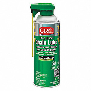 Food Grade Chain Lubricant, 16 oz. Container Size, 12 oz. Net Weight