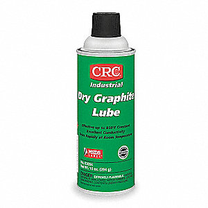 Graphite Dry Film Lubricant, 16 oz. Container Size, 10 oz. Net Weight