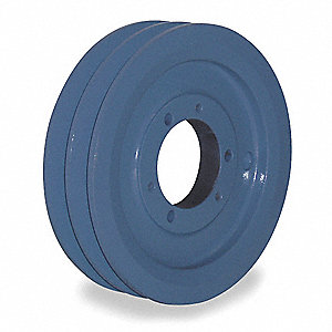 "V-Belt Pulley,Detachable,2Groove,7.35""OD"
