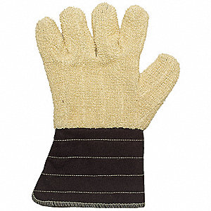 Flame Retardant Gloves,XL,Ylw/Brown,PR