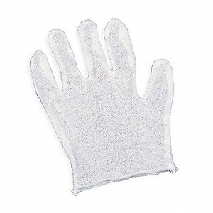 Gloves Liners, Universal, White, PK6