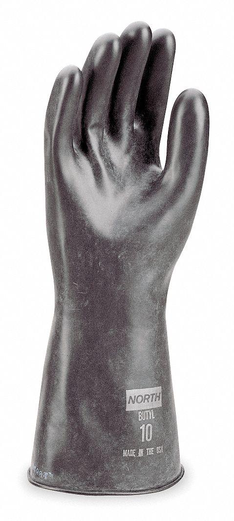 PR Sz 8 North by HONEYWELL B174R//8 Chemical Resistant Glove 17 mil