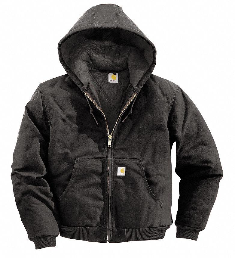 Zipper Closure 2 Pockets Hooded Sherpa Lining Black Tingley Heavy Weight Insulated Sweatshirt