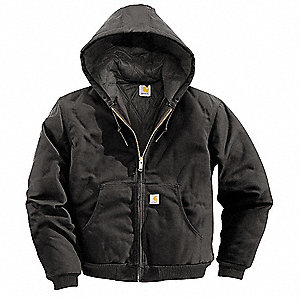 Hooded Jacket,Insulated,Black,L