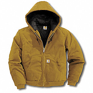 Hooded Jacket,Insulated,Brown,L