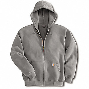 Hooded Swtshirt,Hthr Gray,Cotton/PET,XL