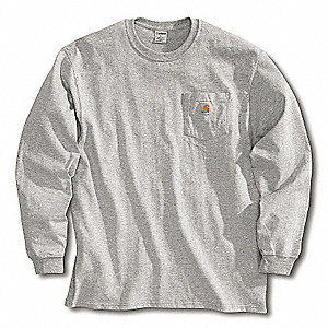 Long Sleeve T-Shirt,Heather Gray,3XL